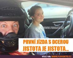 První jízda s dcerou