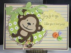Obsessed with Scrapbooking: Monkeying Around Card
