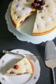 Cherry, Almond and Olive Oil Cake