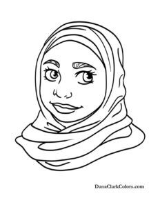 African American Woman Coloring Pages Sketch Coloring Page