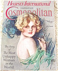 $78 Harrison Fisher Cosmo cover art - vintage complete Cosmopolitan Magazine May 1927, flapper lady