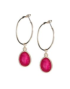 Jamie Jewellery Crystal Hoop Earrings