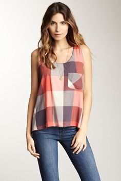 Rails Crossover Tank by Non Specific on @HauteLook - blouses, summer, for teenager, saree, navy, silk blouse *ad