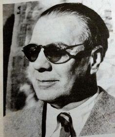 Borges todo el año: Borges profesor: Anexo anglosajón (I): Fragmento final de la Gesta de Beowulf. Imagen: Borges (sin atribución de autor y fecha)  en Revista Ñ n° 21 del año 2006. Archivo Clarín