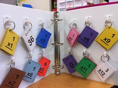 Multiplication flash cards - cute idea for a center....could do with any facts.