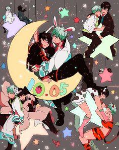 Me Me Me Anime, Anime Guys, Manga Anime, Gintama, Gakuen Babysitters, Blood Blockade Battlefront, Gekkan Shoujo Nozaki Kun, Skullgirls, Durarara