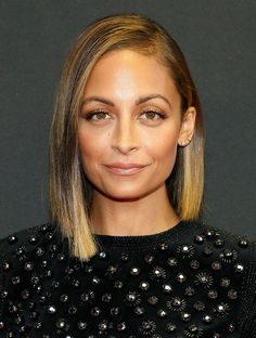 After, was the ombre and asymmetrical bob. | The Hair Evolution Of Nicole Richie