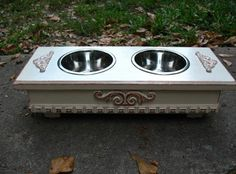 Elevated Dog Bowl or Cat Bowl Pet Feeder by countrymanspetfeeder