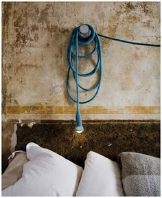 long, long knitted lamp cord