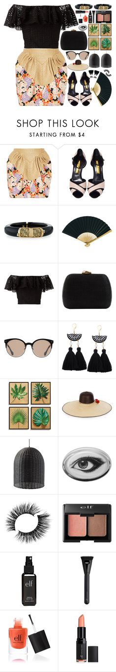 """Jungle Fever"" by stavrolga on Polyvore featuring Delpozo, Rupert Sanderson, Alexis Bittar, Cultural Intrigue, Philosophy di Lorenzo Serafini, Serpui, Balenciaga, Frontgate, Sophie Anderson and Serena & Lily"