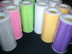 """6"""" x25yd #Tulle Spools less than $2ea! 33 colors available! #deanascrafts #tutu #decoration #costume #cosplay #wreath #diy"""