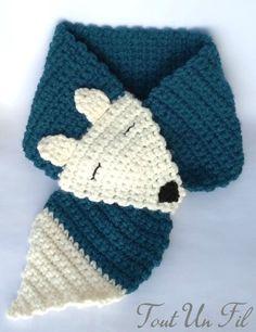Echarpe renard crochet pour enfant tuto gratuit free Crochet fox scarf for child free tutorial free Poncho Crochet, Crochet Kids Scarf, Bonnet Crochet, Crochet Shawls And Wraps, Crochet Fox, Crochet For Boys, Crochet Gifts, Crochet Beanie, Thread Crochet