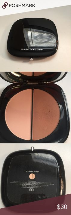 Marc Jacobs Contour Powder Dream Filter Marc Jacobs #instamarc light filtering contour powder in #29 Dream filter(soft pink/medium bronze). Pink side used very few times, bronze Side used but still has 95% in it. No trades.  No holds. All of my items are authentic. Marc Jacobs Makeup Bronzer