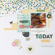 Everyday+Life - I l love torn paper on a layout! Scrapbook.com