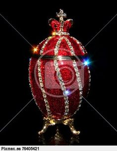 Faberge Egg with patches of light
