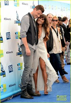 Cory Monteith and Leah Michelle  RIP Cory , they were supposed to get married in two weeks
