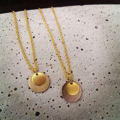 Ketten kurz - Kette Dots / Kreis / Plättchen - metallic // gold - ein Designerstück von Bohani bei DaWanda