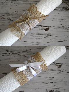 This Listing is for 75 Rustic Napkin Holders made of burlap/ lace and ribbon. Enhance your special occasion with our rustic table ware adding