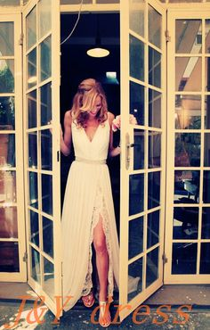 Hey, I found this really awesome Etsy listing at https://www.etsy.com/listing/195516420/lace-chiffon-wedding-dress-v-neck-v-back