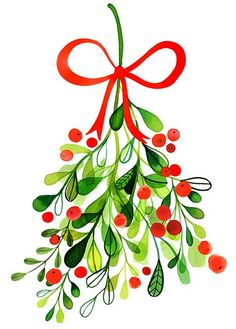 cards Margaret Berg Kunst: Merry + Mistel - - Acne Facts And Fi Christmas Clipart, Noel Christmas, Christmas Printables, Winter Christmas, Vintage Christmas, Christmas Leaves, Christmas Design, Christmas Cookies, Christmas Ideas