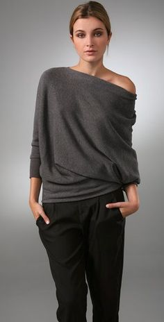 Vince. Draped sweater, would love to have it!