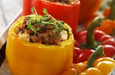 Spicy Recipes, Tapas, Seafood, Food And Drink, Stuffed Peppers, Chicken, Dinner, Fruit, Vegetables