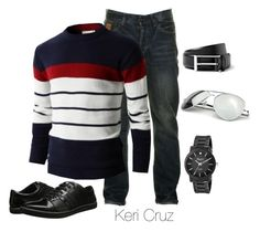 """Men's Casual"" by keri-cruz ❤ liked on Polyvore featuring Two Stoned, Urban Boundaries, Kenneth Cole and Burberry"