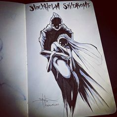 In artist Shawn Coss created a viral Inktober mental illness series. For he updated the drawings to continue the conversation on mental health. Creepy Drawings, Dark Drawings, Creepy Art, Scary, Arte Horror, Horror Art, Art Triste, Mental Health Art, Stockholm Syndrome