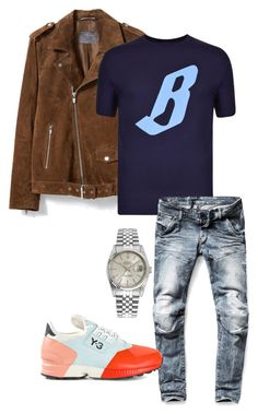 """Untitled #32"" by urblux ❤ liked on Polyvore featuring Zara, Billionaire Boys Club, G-Star Raw, Y-3 and Rolex"
