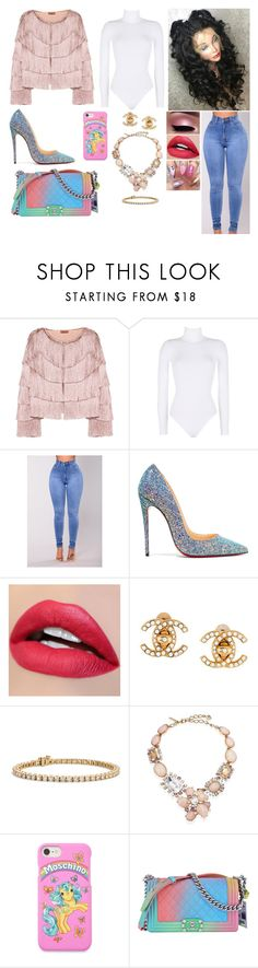 """Gorge"" by divinemaboundou ❤ liked on Polyvore featuring Missoni, Wolford, Christian Louboutin, Chanel, Blue Nile, Oscar de la Renta and Moschino"