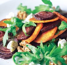 Beetroot, sweet potato