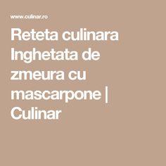 Reteta culinara Inghetata de zmeura cu mascarpone | Culinar