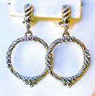 JUDITH RIPKA GARLAND DOOR KNOCKER PIERCED EARRINGS! BEAUTIFUL NWOT! - Beautiful, Door, Earrings., garland, Judith, Knocker, NWOT, Pierced, Ripka - http://designerjewelrygalleria.com/designer-jewelry-galleria/judith-ripka-garland-door-knocker-pierced-earrings-beautiful-nwot/