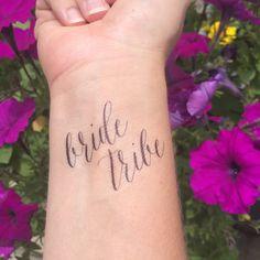 Bride Tribe Temporary Tattoo, Bride Tribe, Bachelorette Party, Bachelorette Tattoo, Bride Tattoo