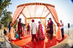Rituals - The Goa Wedding! Photos, Hindu Culture, Blue Color, Decoration, Destination Wedding, Goa Wedding pictures, images, vendor credits - Manyavar, Going Bananas Photography, Makeovers By Sukanya, WeddingPlz