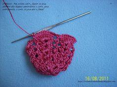 rosa em croche