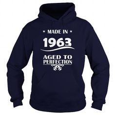Age 1963 Made in 1963 Aged to perfection Tee Shirts & Hoodies - Mens Womens Vintage MADE IN 1963 ALL ORIGINAL PARTS Tee Shirts and Hoodies, Classic 1963 Birthday T Shirt Designs #1963 #birthday