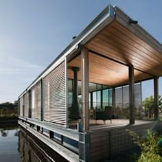 Building A Container Home, Floating House, Building Art, Modern Architecture, Rolling Bar, Art Deco, Houseboats, Adventure, Ark