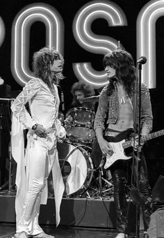 Aerosmith...(there's a guy in my neighbourhood looking very much like Joe Perry back then....yowza!...bring back that look!)