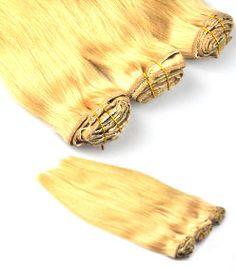 extension clip blond par extens hair. qualité pro remy hair : http://www.extens-hair.com/fr/88-extension-cheveux-blond-clair