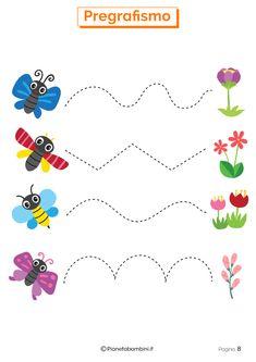 Preschool Forms, Preschool Writing, Numbers Preschool, Free Preschool, Preschool Printables, English Activities For Kids, Art Activities For Toddlers, Preschool Learning Activities, Nursery Worksheets