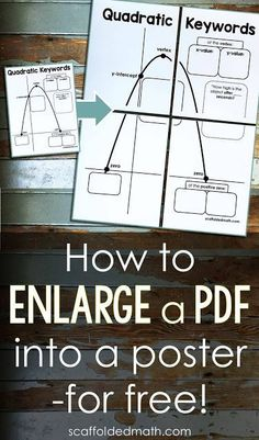 Are you looking for a free way to enlarge a pdf to print on multiple pages? To make a classroom poster for your bulletin board from a pdf? In this post are 3 simple steps to make this happen. You will be able to enlarge any pdf into a multi-page poster to Classroom Bulletin Boards, Classroom Posters, School Classroom, Future Classroom, Teaching Tips, Teaching Math, Math Math, Classroom Organization, Classroom Management