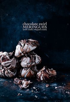 Chocolate swirl meringues with nutella whipped cream  by CallMeCupcake