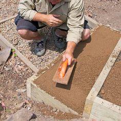 Backyard DIY: How to build outdoor stairs - Better Homes and Gardens: DIY, Renovation, Gardening & Recipes Hillside Garden, Hillside Landscaping, Landscape Stairs, Landscape Design, Sloped Backyard, Terraced Backyard, Outdoor Steps, Outdoor Walkway, Garden Stairs