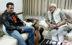 Indian film actor Salman Khan interacting with Narendra Modi. Indian film star Salman Khan Tuesday joined rightwing Hindu leader and prime ministerial candidate Bollywood Photos, Bollywood News, A Good Man, The Man, Movie Z, Salman Khan Photo, News Website, Asia News, Festivals Around The World