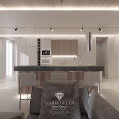Minimalist House Interior Design – Maria Green – Interior Designer Minimalist House, Minimalist Interior, Luxury Interior, Home Interior Design, Wooden Tops, Loft Style, Design Projects, Minimalism, Kitchen Design