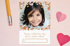 confetti hearts Classroom Valentine's Day Cards by toast & laurel at minted.com