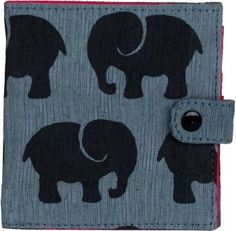 Elephant Recycled Cotton Wallet