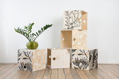 Botanical ply milk crate by Ink & Spindle
