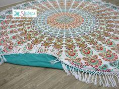 Mandala Round terry towels long fringes tassels